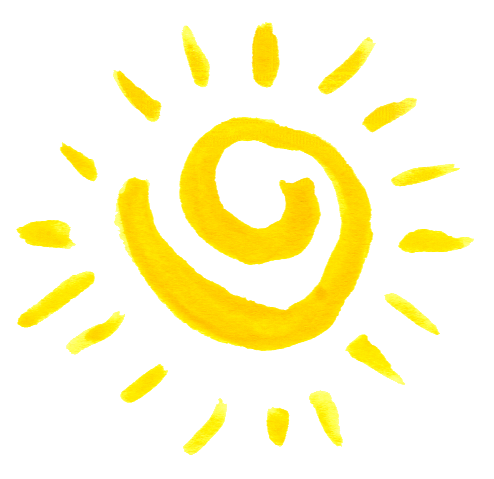 Spiral sun png. Watercolor transparent onlygfx