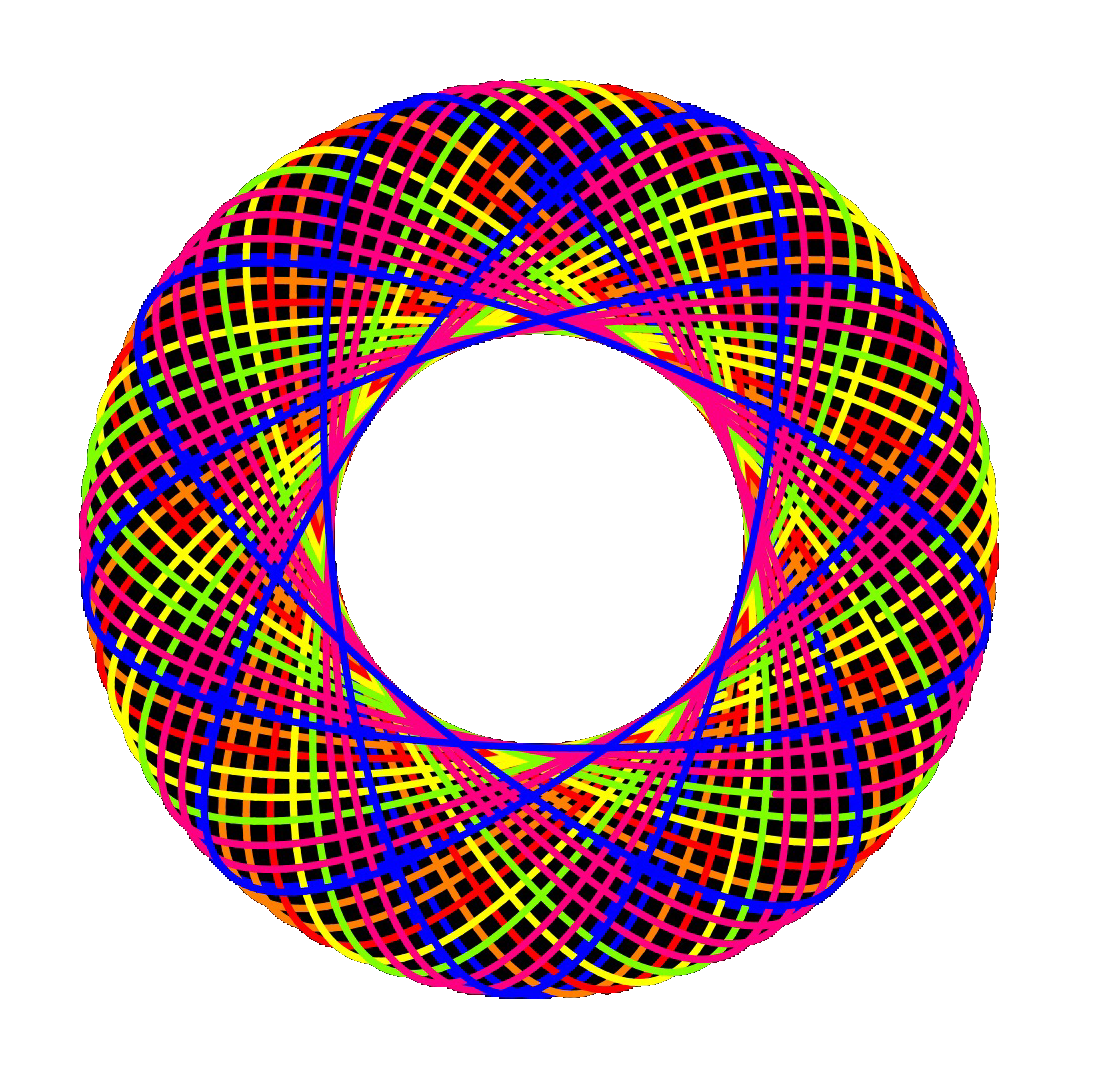 Spirograph drawing hand. Made with rotodoodle on