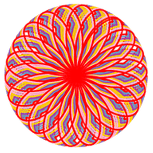 Spirograph drawing original. Spiral draw a android