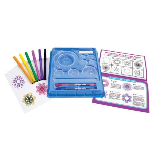 Spirograph drawing original. The design set and