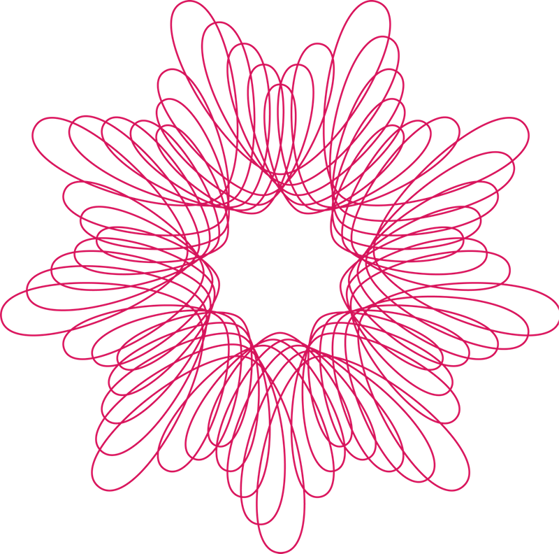 Spirograph drawing. Pattern design circle ornament