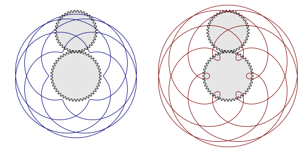 Spirograph drawing complex. Render example