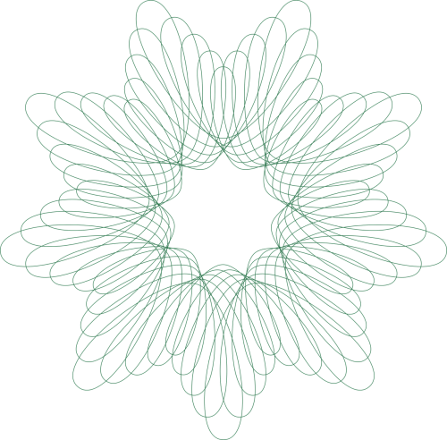 Spirograph vector. Abstract pattern geometric circle