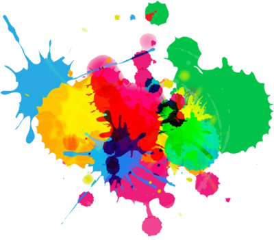 Splat transparent color splash. Cool with fewer colors