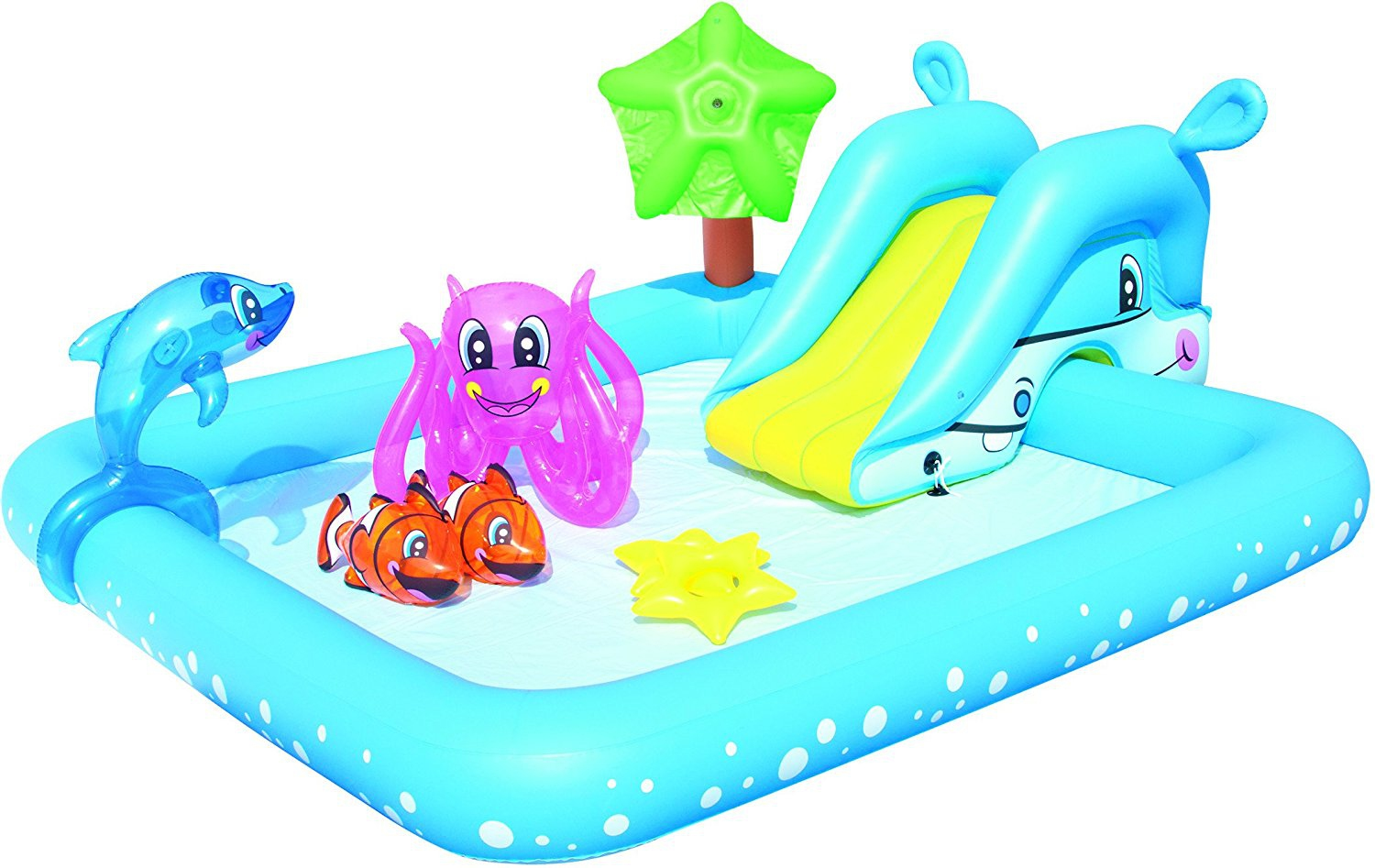 Splash clipart pool toy. Bestway inflatable aquarium fish
