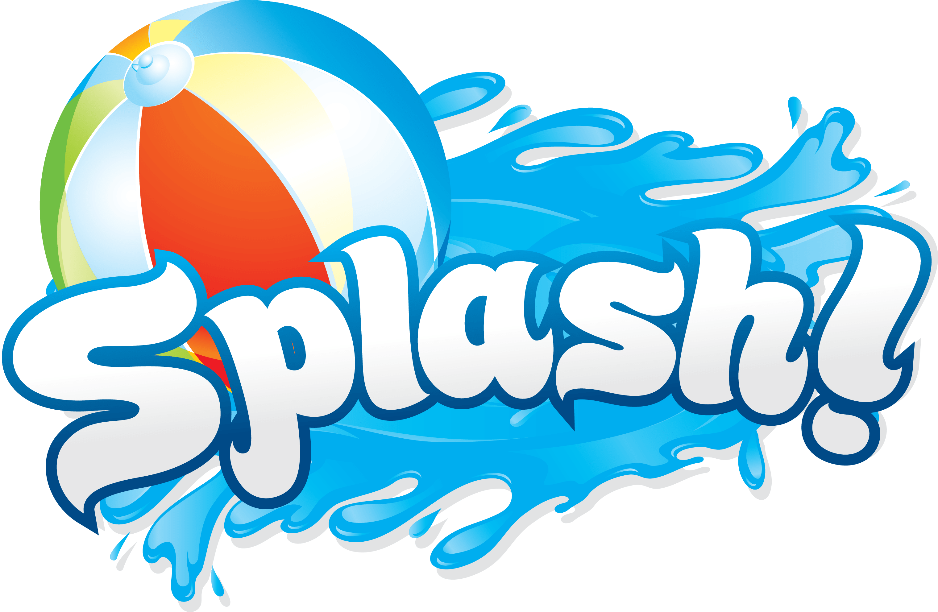 Pool party png. Borde de clip splash