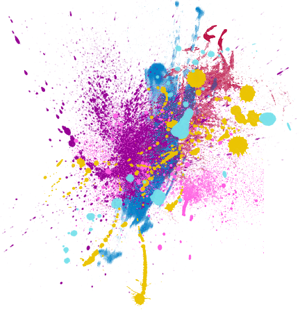 Splash color png. Colorful colour sticker by
