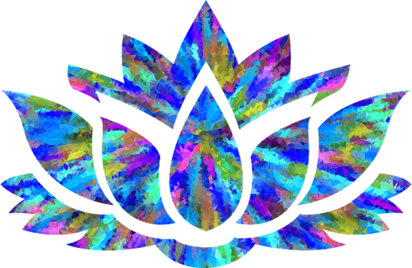 Lotus flower silhouette vector png. Image large low poly
