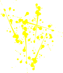 Splat transparent yellow. Paint clip art at