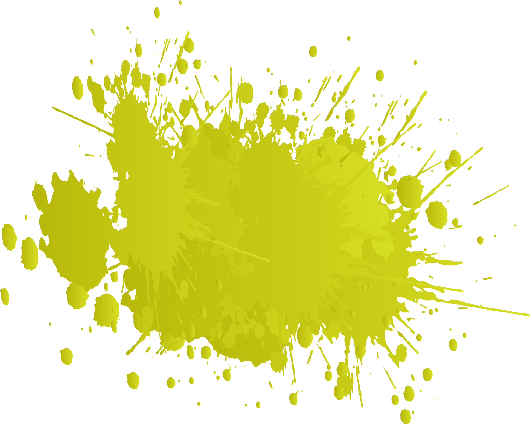 Splat transparent yellow colour. What the color of