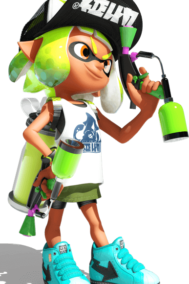 Splatoon 2 inkling png. For nintendo switch official