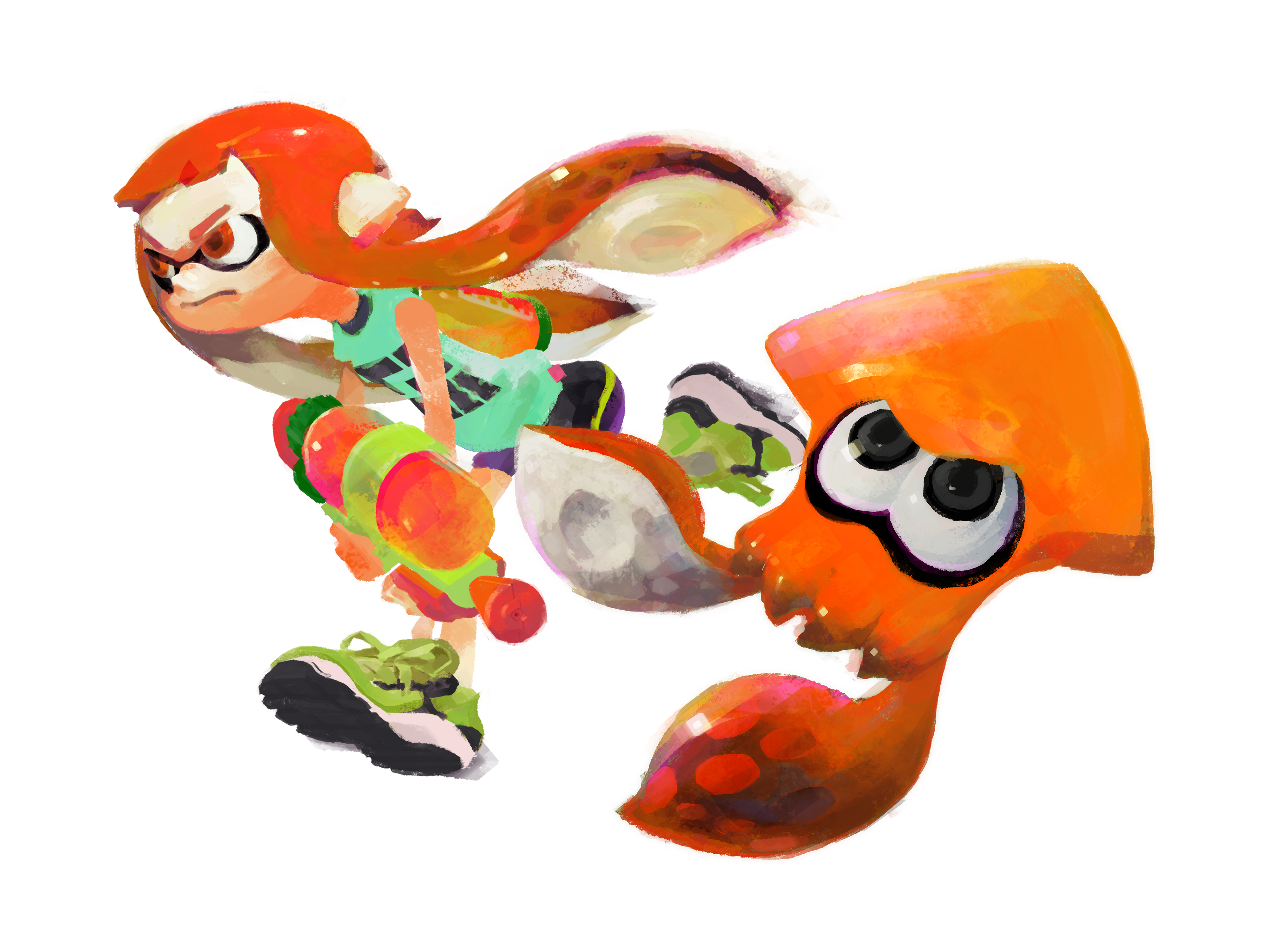 Splatoon hair png. S character will be