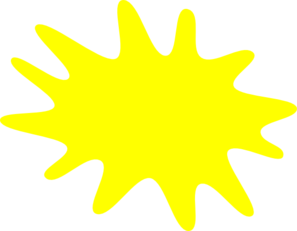 Splatter clipart paint splotch. Yellow