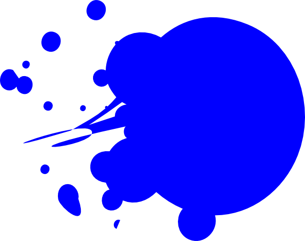 Splatter clipart paint splotch. Blue dot splat clip
