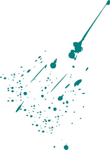 Splatter clipart teal paint. Clip art at clker