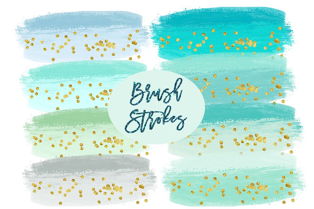 Splatter clipart teal paint. Watercolor splashes mint brush