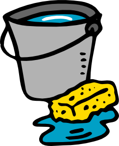 Sponge clipart janitor. Cleaning bucket water clip