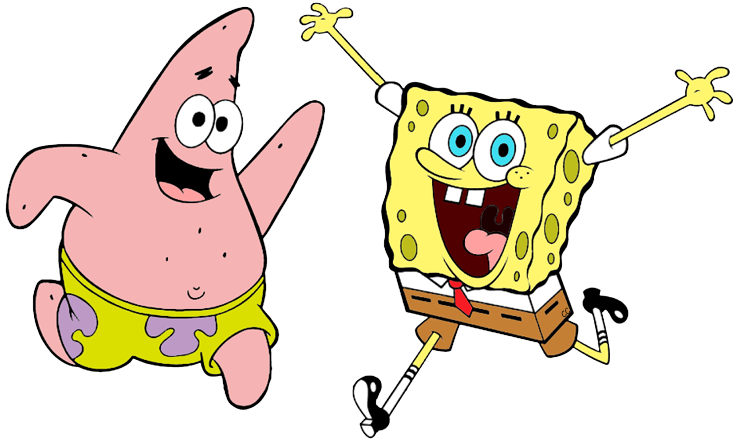 Spongebob patrick and squidward png. Squarepants clip art cartoon