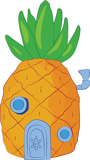 Spongebob clipart pineapple. Posters by srucci redbubble