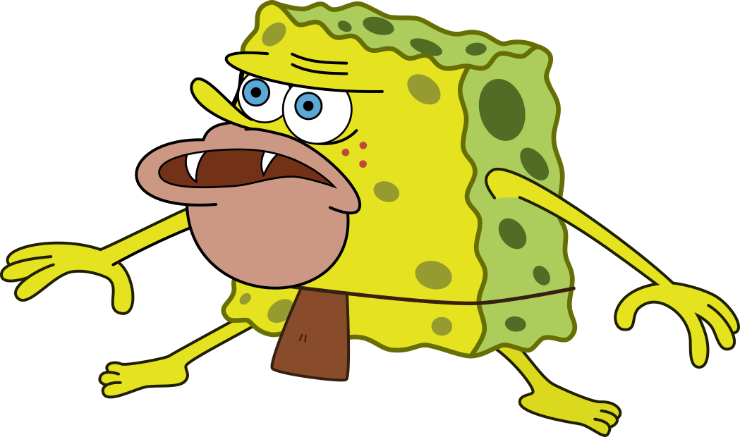 Spongebob fun png. Primitive remastered spongegar sponge