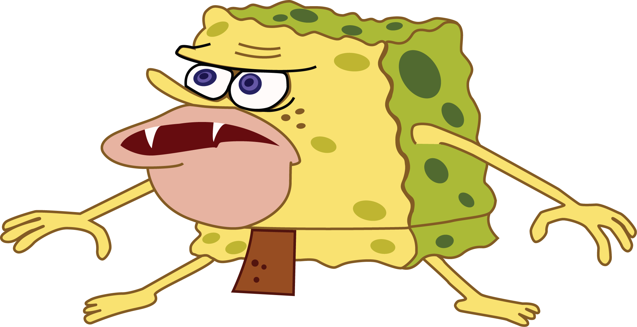 Spongebob memes png. High res template spongegar