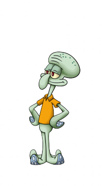 Drawing tentacles. How to draw squidward