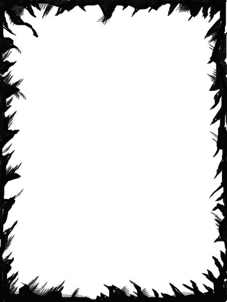 Spooky clipart. Picture frame pencil and