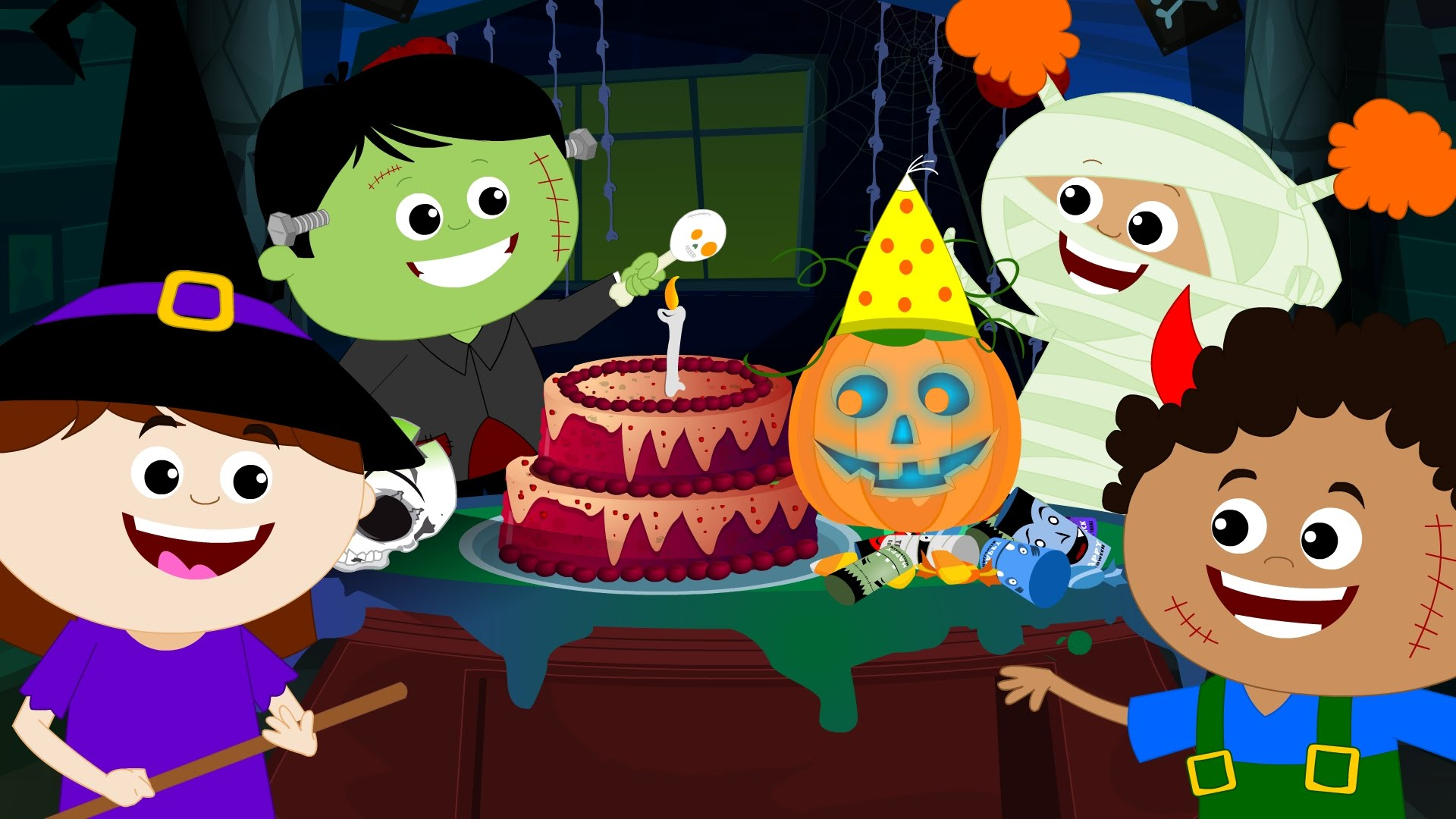 Spooky clipart birthday halloween. Song happy to you