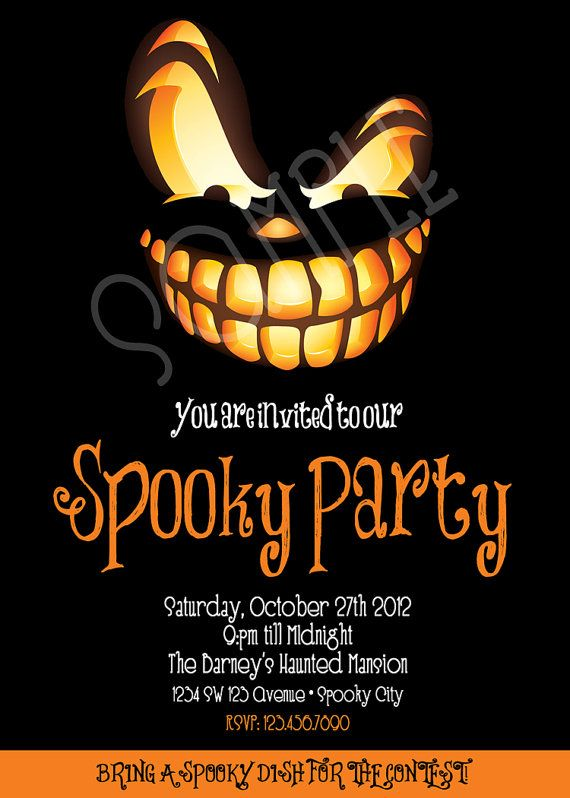 Spooky clipart birthday halloween. Best invitations images