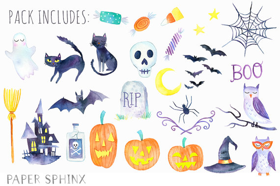 Spooky clipart cool. Design ideas halloween party