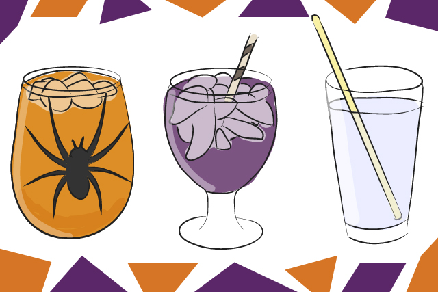 Spooky clipart drink. Trick or treat halloween