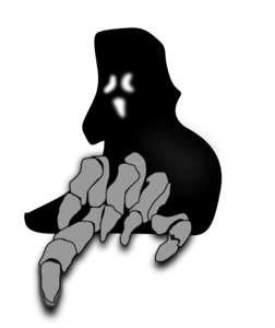 Spooky clipart ghost. Creepy