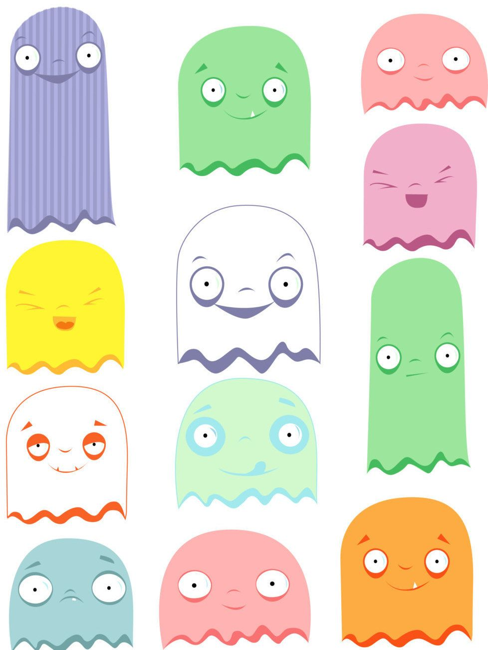 Spooky clipart ghost. Halloween cute clipartghost graphics