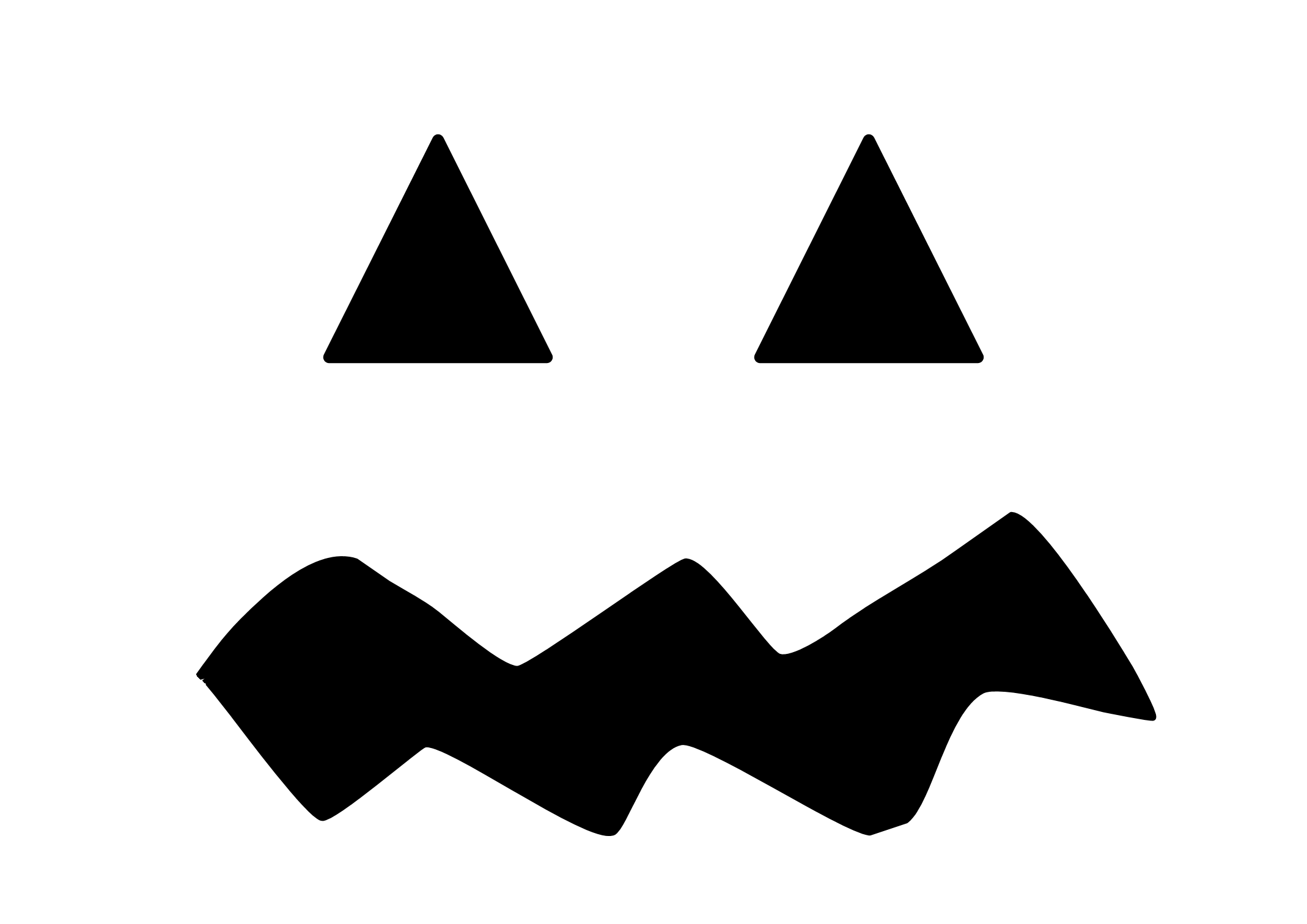 Spooky clipart mouth. Perspective jack o lantern