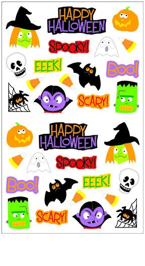Spooky clipart sticker. Halloween reflections stickers mrs