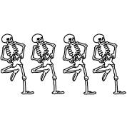 Spooky scary skeletons png. Bw men s t