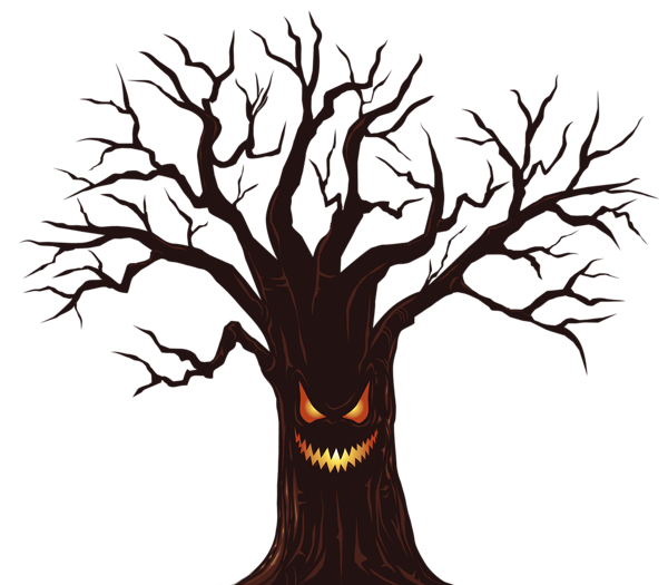 Halloween png spooky. Tree clipart image gallery
