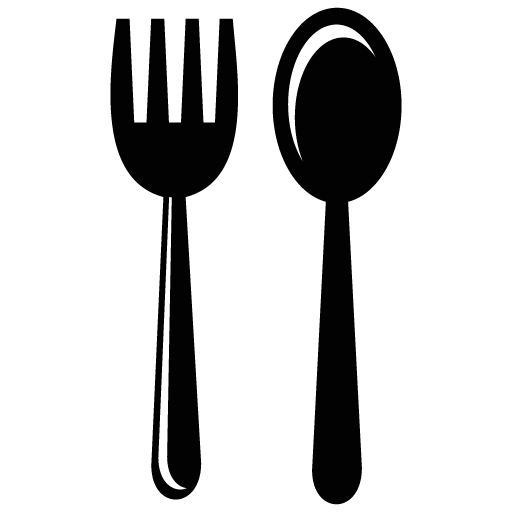 Vector spoon eating. Fork icon myiconfinder
