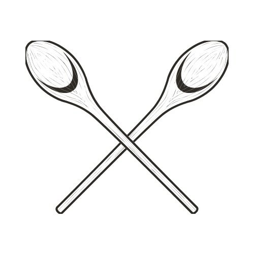 Spoon clipart wooden spoon. Bw clip art get