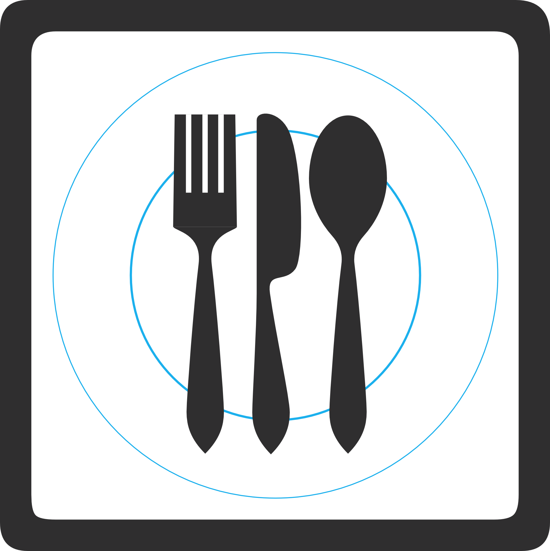 Spoon knife fork png. Plate clip art transprent