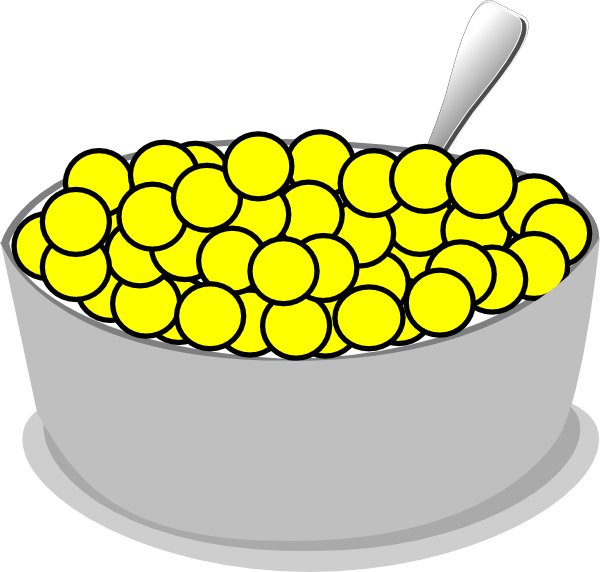 Spoon of cereal png. Bowl yellow clip art