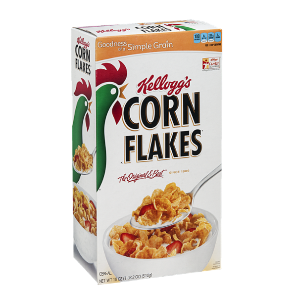 Spoonful of cereal png. Kellogg s corn flakes