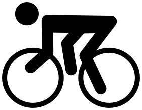 Cycling clipart recreation. Sports icons available formats