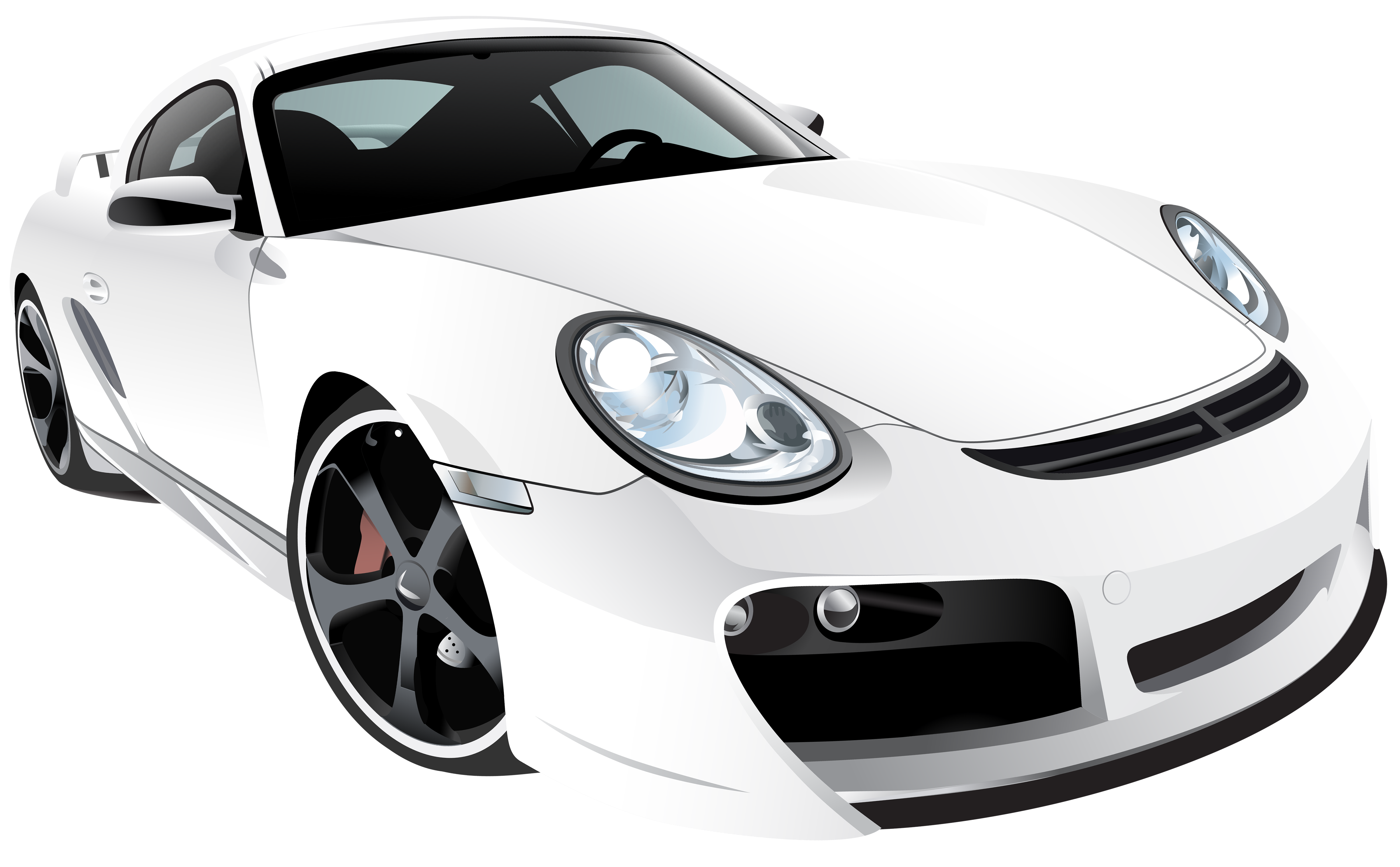 Sports car png. White sport clip art