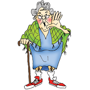 Sports clipart elderly. Old lady with shawl