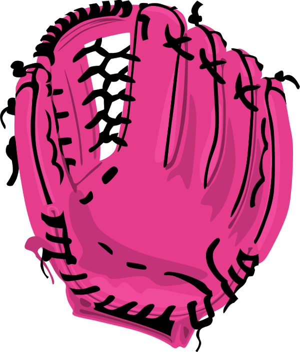Sports clipart glove. Softball drawing at getdrawings