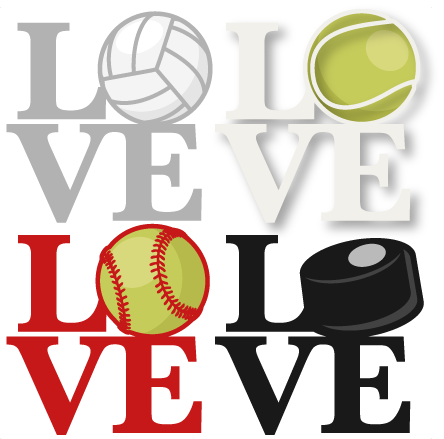 Sports clipart love. Titles svg scrapbook cut