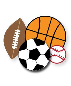 Sports clipart preschool. Free for parties crafts
