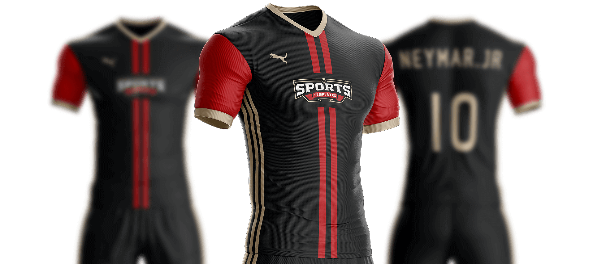 Sports jersey png. Goal soccer kit template