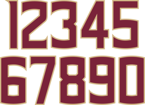 Sports numbers png. New fsu spear and